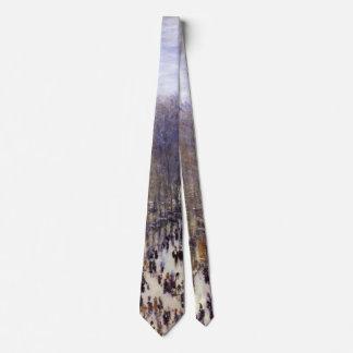 Boulevard des Capucines by Claude Monet, Fine Art Neck Tie