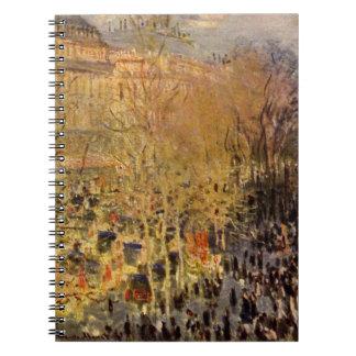 Boulevard des Capucines by Claude Monet, Fine Art Notebook