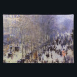"Boulevard des Capucines by Claude Monet, Fine Art Placemat<br><div class=""desc"">Boulevard des Capucines (1873) by Claude Monet is a vintage impressionism fine art cityscape painting featuring a street scene in Paris, France. The Boulevard des Capucines is one of the four &quot;grands boulevards&quot; in Paris, a chain of boulevards running east-west that also includes Boulevard de la Madeleine, Boulevard des Italiens,...</div>"