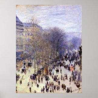 Boulevard des Capucines by Claude Monet, Fine Art Poster
