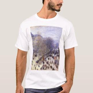 Boulevard des Capucines by Claude Monet, Fine Art T-Shirt