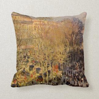 Boulevard des Capucines by Claude Monet, Fine Art Throw Pillow