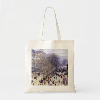 Boulevard des Capucines by Claude Monet, Fine Art Tote Bag