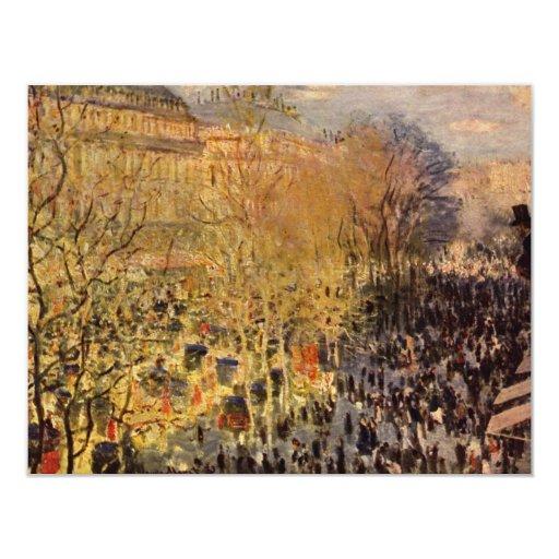 Boulevard des Capucines by Claude Monet Announcements