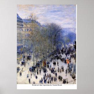 Boulevard des Capucines by Claude Monet Poster