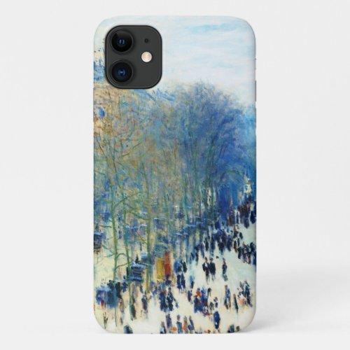 Boulevard des Capucines Claude Monet fine art Phone Case