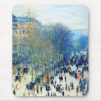 Boulevard des Capucines Claude Monet fine art Mouse Pad