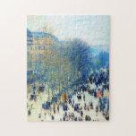 Boulevard des Capucines Claude Monet fine art Puzzle