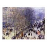Boulevard des Capucines, Monet, Vintage Fine Art Postcard