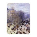 Boulevard des Capucines, Monet, Vintage Fine Art Rectangle Magnets