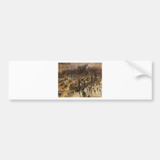 Boulevard des Italiens Afternoon by Camille Pissar Bumper Sticker