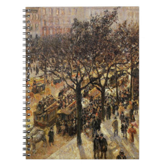 Boulevard des Italiens Afternoon by Camille Pissar Notebook