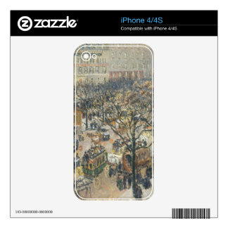 Boulevard des Italiens, Morning, Sunlight, 1897 Decal For The iPhone 4