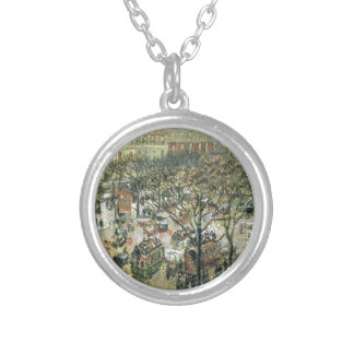 Boulevard des Italiens Morning, Sunlight Round Pendant Necklace
