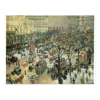 Boulevard des Italiens Morning, Sunlight Postcard