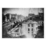 Boulevard du Temple, by Daguerre, historic photo Poster