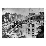Boulevard du Temple Paris France 1838 Greeting Card
