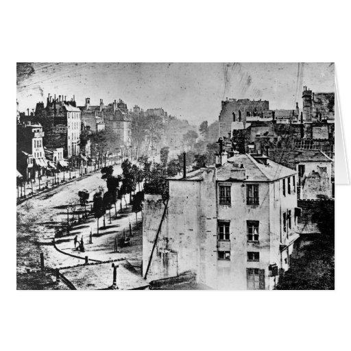 Boulevard du Temple Paris France 1838 Card