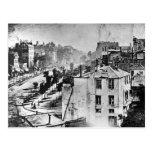Boulevard du Temple Paris France 1838 Post Card
