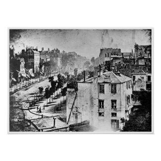 Boulevard du Temple París Francia 1838 Póster