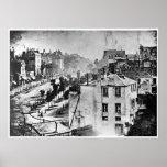 Boulevard du Temple París Francia 1838 Posters