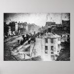 Boulevard du Temple, por Daguerre, foto histórica Póster