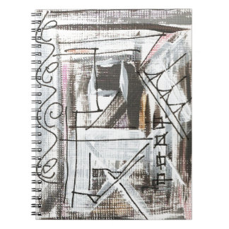 Boulevard-Hand Painted Abstract Brushstrokes Notebook