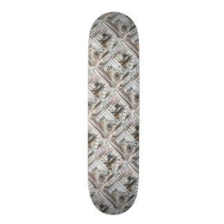 Boulevard-Hand Painted Abstract Brushstrokes Skateboard