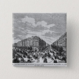 Boulevard Haussmann extended between Pinback Button