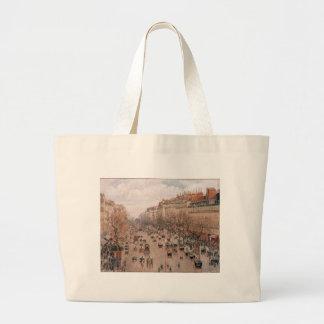 Boulevard Monmartre in Paris by Camille Pissarro Jumbo Tote Bag
