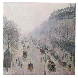 Boulevard Montmartre, 1897 (oil on canvas) Ceramic Tile
