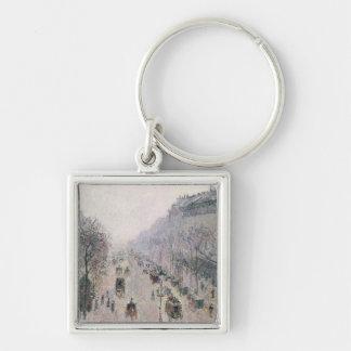 Boulevard Montmartre, 1897 (oil on canvas) Keychains