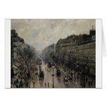 Boulevard Montmartre Foggy Morning by Camille... Card
