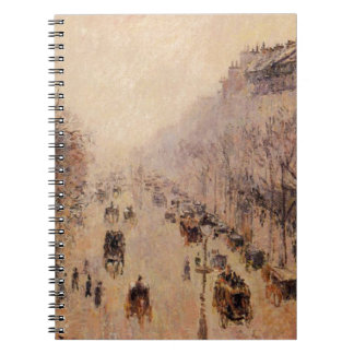 Boulevard Montmartre Morning, Sunlight and Mist by Notebook