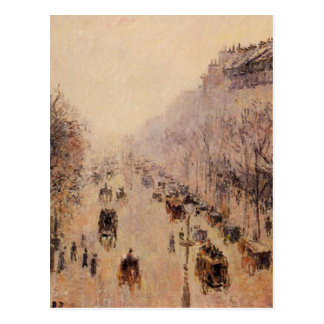 Boulevard Montmartre Morning, Sunlight and Mist by Postcard