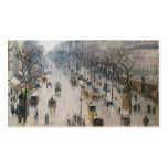 Boulevard Montmartre - Paris - Camille Pissarro Double-Sided Standard Business Cards (Pack Of 100)