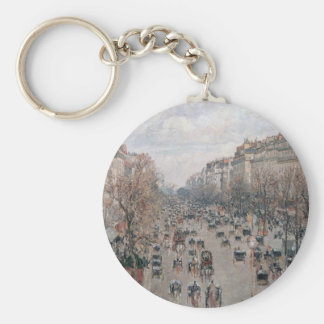 Boulevard Montmartre - Paris - Camille Pissarro Keychain
