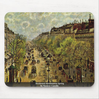 Boulevard Montmartre Spring By Pissarro Camille Mouse Pad