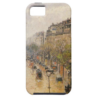 Boulevard Montmartre Spring Rain Camille Pissarro iPhone SE/5/5s Case
