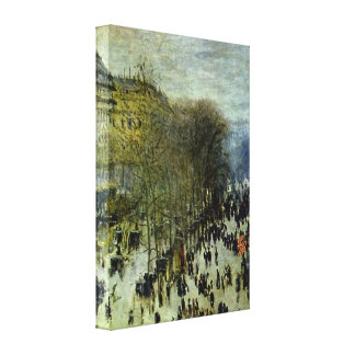Boulevard of Capucines by Claude Monet Stretched Canvas Print