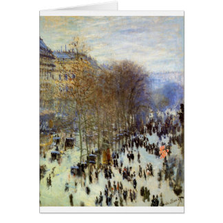 Boulevard of Capucines by Claude Monet Card