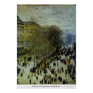 Boulevard of Capucines by Claude Monet Poster