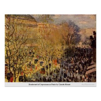 Boulevard of Capucines in Paris by Claude Monet Posters