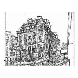 Boulevard Paris structures Bohemia street exists Postcard