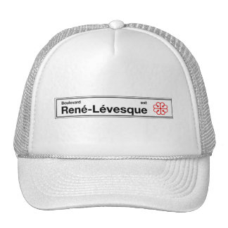 Boulevard Rene-Levesque, Montreal Street Sign Trucker Hat