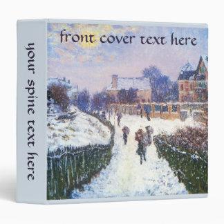 Boulevard Saint Denis Argenteuil by Claude Monet Vinyl Binder