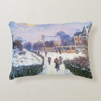 Boulevard Saint Denis Argenteuil by Claude Monet Decorative Pillow
