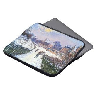 Boulevard Saint Denis Argenteuil by Claude Monet Laptop Computer Sleeve