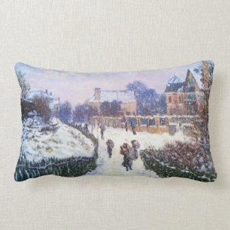 Boulevard Saint Denis Argenteuil by Claude Monet Lumbar Pillow