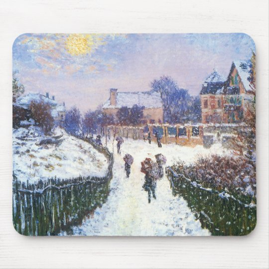 Boulevard Saint Denis Argenteuil by Claude Monet Mouse Pad